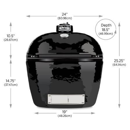 Primo Oval LG 300 sizing chart