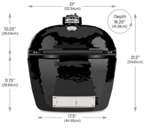 Primo Grill Oval JR 200 Sizing